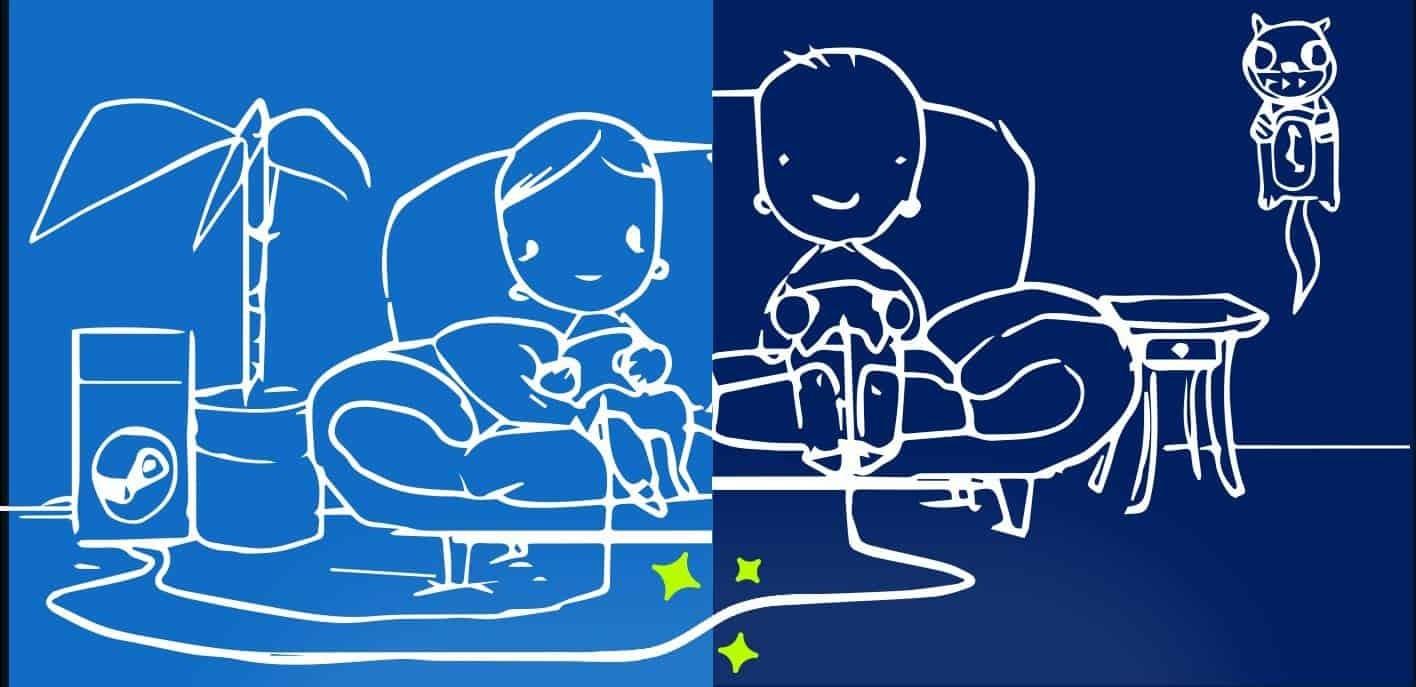اللعب الجماعي المحلي ستيم ريموت بلاي ألعاب رياضة الكترونية steam remote play together couch-co-op