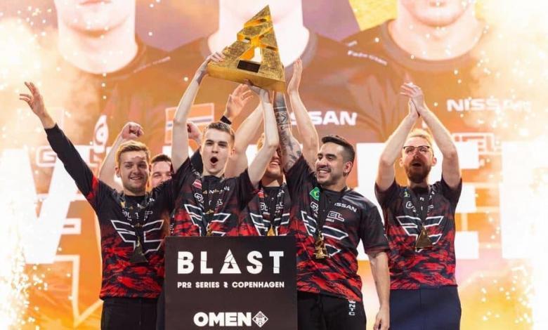 فيز كلان فوز بطولة بلاست برو كاونتر سترايك رياضة الكترونية faze clan blast pro series copenhagen win ninjas in pyjamas csgo