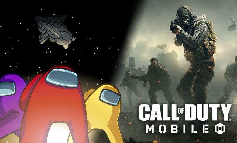 كول أوف ديوتي موبايل امونق اص among us cod esports mobile